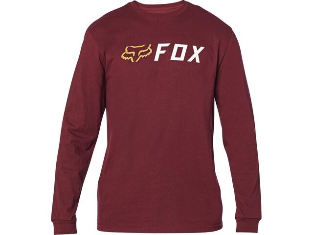 Fox Apex Maglietta A Maniche Lunghe Uomo, cranberry